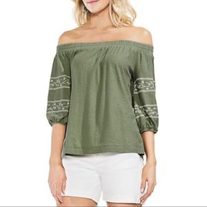 Vince Camuto Off-the-Shoulder Bubble Sleeve Top